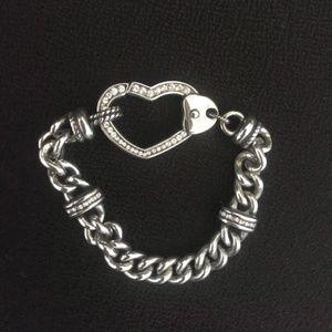 Brighton Bracelet Urban Heart Bold Chunky Crystals